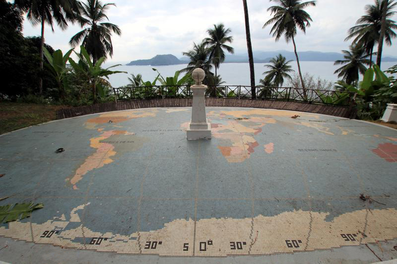 Marker at Equator on Ilheu das Rolas