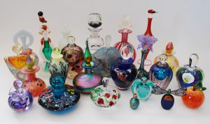 Various hot glass items