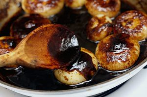 Hank Black's famous caramelized whole roasted onions.....